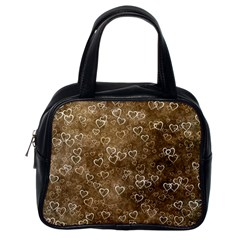 Heart Pattern Classic Handbags (one Side)