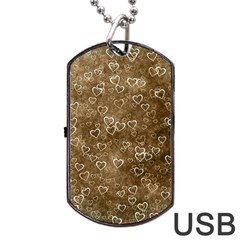 Heart Pattern Dog Tag Usb Flash (one Side)