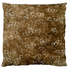 Heart Pattern Large Cushion Case (one Side)