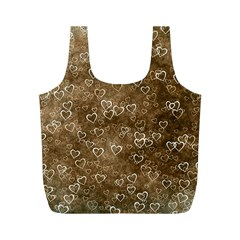 Heart Pattern Full Print Recycle Bags (m)