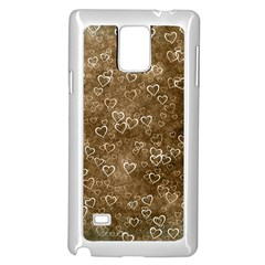 Heart Pattern Samsung Galaxy Note 4 Case (white)