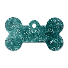 Heart Pattern Dog Tag Bone (two Sides)
