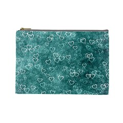 Heart Pattern Cosmetic Bag (large)