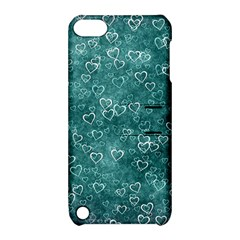 Heart Pattern Apple Ipod Touch 5 Hardshell Case With Stand