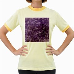 Heart Pattern Women s Fitted Ringer T Shirts