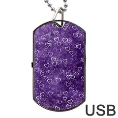 Heart Pattern Dog Tag Usb Flash (two Sides)
