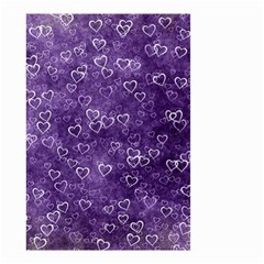 Heart Pattern Small Garden Flag (two Sides)