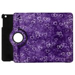 Heart pattern Apple iPad Mini Flip 360 Case Front