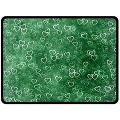 Heart Pattern Fleece Blanket (large)