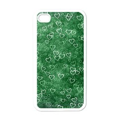 Heart Pattern Apple Iphone 4 Case (white)