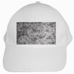 Heart Pattern White Cap
