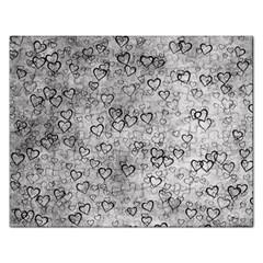 Heart Pattern Rectangular Jigsaw Puzzl