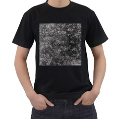Heart Pattern Men s T Shirt (black)