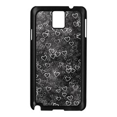 Heart Pattern Samsung Galaxy Note 3 N9005 Case (black)