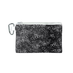 Heart Pattern Canvas Cosmetic Bag (s)