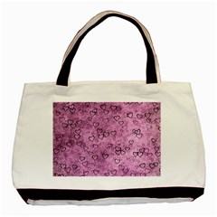 Heart Pattern Basic Tote Bag (two Sides)