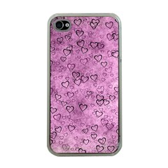 Heart Pattern Apple Iphone 4 Case (clear)