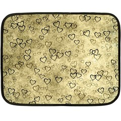 Heart Pattern Fleece Blanket (mini)
