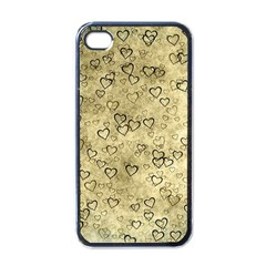 Heart Pattern Apple Iphone 4 Case (black)