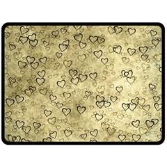 Heart Pattern Double Sided Fleece Blanket (large)