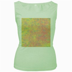Heart Pattern Women s Green Tank Top
