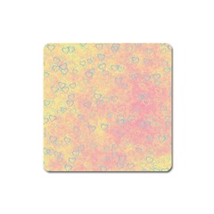 Heart Pattern Square Magnet