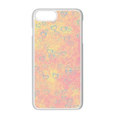 Heart Pattern Apple Iphone 7 Plus White Seamless Case