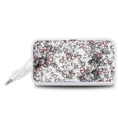 Heart Pattern Portable Speaker (white)