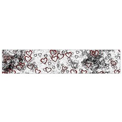 Heart Pattern Flano Scarf (small)