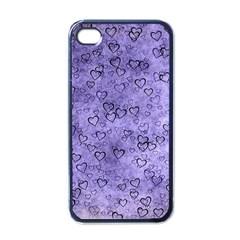 Heart Pattern Apple Iphone 4 Case (black)