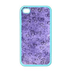 Heart Pattern Apple Iphone 4 Case (color)