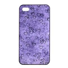 Heart Pattern Apple Iphone 4/4s Seamless Case (black)