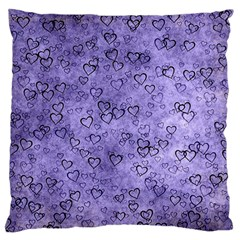 Heart Pattern Standard Flano Cushion Case (one Side)