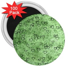Heart Pattern 3  Magnets (100 Pack)
