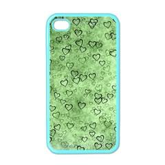Heart Pattern Apple Iphone 4 Case (color)
