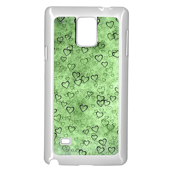 Heart pattern Samsung Galaxy Note 4 Case (White)