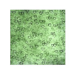 Heart Pattern Small Satin Scarf (square)