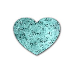 Heart Pattern Rubber Coaster (heart)