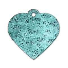 Heart Pattern Dog Tag Heart (two Sides)