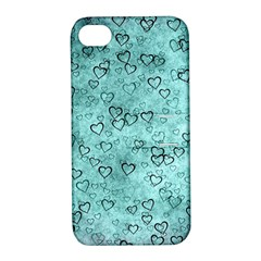 Heart Pattern Apple Iphone 4/4s Hardshell Case With Stand