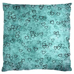 Heart Pattern Standard Flano Cushion Case (two Sides)