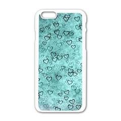Heart Pattern Apple Iphone 6/6s White Enamel Case