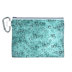 Heart Pattern Canvas Cosmetic Bag (l)