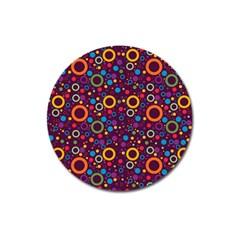 70s Pattern Magnet 3  (round)