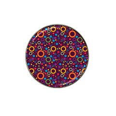 70s Pattern Hat Clip Ball Marker (4 Pack)