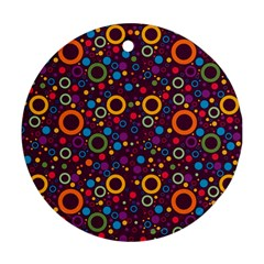 70s Pattern Round Ornament (two Sides)
