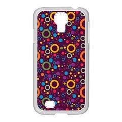 70s Pattern Samsung Galaxy S4 I9500/ I9505 Case (white)