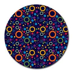 70s Pattern Round Mousepads