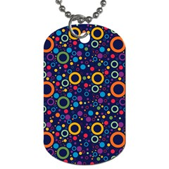 70s Pattern Dog Tag (one Side)