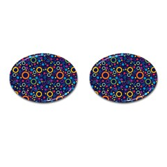 70s Pattern Cufflinks (oval)